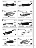 OMP exhaust systems and rear pipes