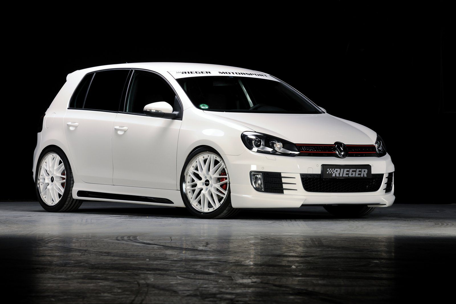 vw golf vi gti by rieger news tuning directory. Black Bedroom Furniture Sets. Home Design Ideas